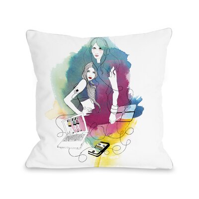 Tech Beauty Throw Pillow Size: 18 H x 18 W x 3 D