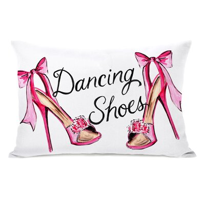 Dancing Shoes Ribbon Stripes Lumbar Pillow