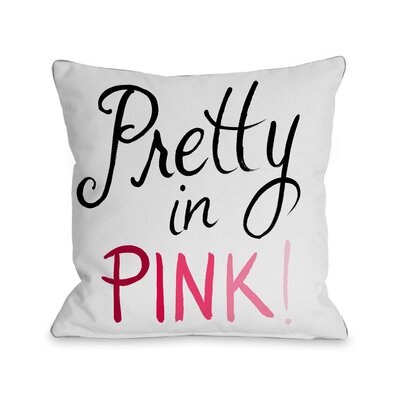 Pretty in Pink Hello Gorgeous Bows Throw Pillow Size: 16 x 16