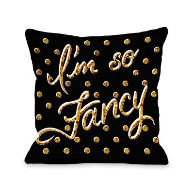 Im So Fancy Dots Bows Throw Pillow Size: 18 x 18