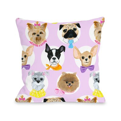 Love from NYC 10 Dogs Throw Pillow Size: 18 x 18