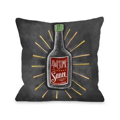 Awesome Sauce Throw Pillow Size: 16 x 16