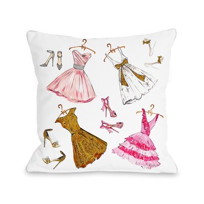 Dress Assortment Sparkles Throw Pillow Size: 18 x 18
