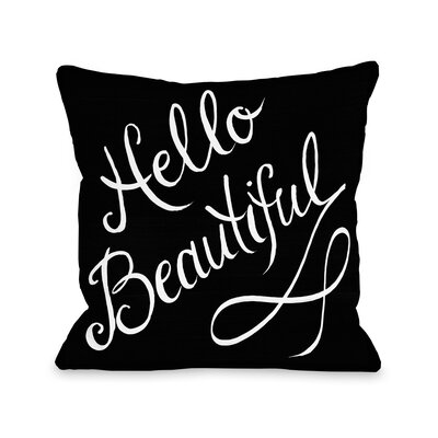 Hello Beautiful Stripes Throw Pillow Size: 16 x 16