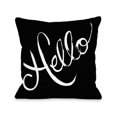 Hello Bows Throw Pillow Size: 18 x 18