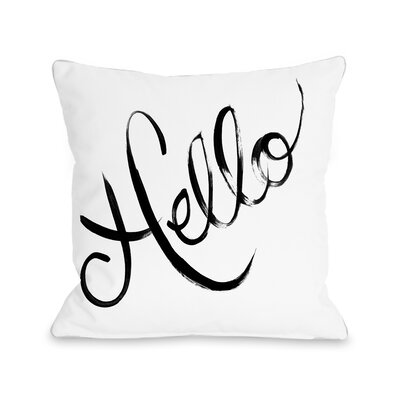 Hello Painted Stripes Throw Pillow