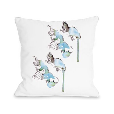 Goldfish Throw Pillow Size: 18 H x 18 W x 3 D