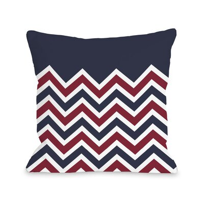 Chevron Solid American Fleece Throw Pillow Size: 18