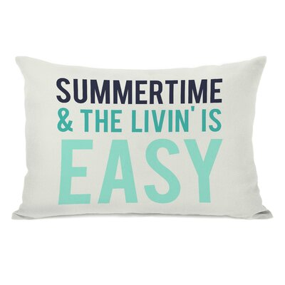 Summertime & The Livin is Easy Cotton Throw Pillow