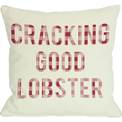 Crackin Good Lobster Plaid Throw Pillow