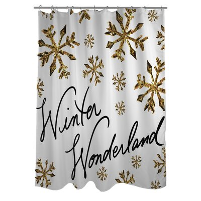 Winter Wonderland Snowflakes Shower Curtain