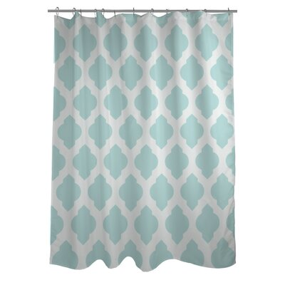 All Over Moroccan Shower Curtain Color: Fair Aqua