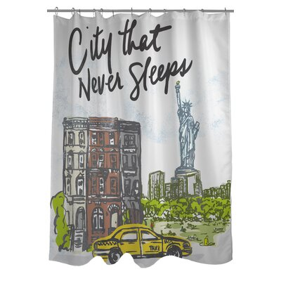 City Sleeps Shower Curtain