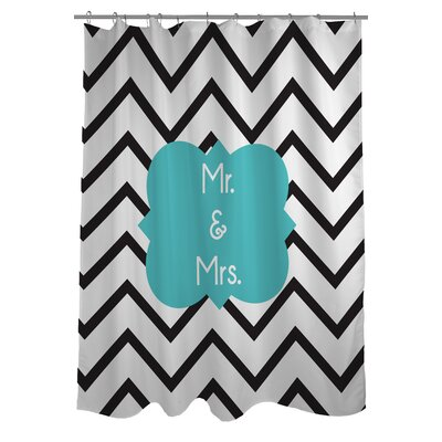 Mr. and Mrs. Chevron Shower Curtain