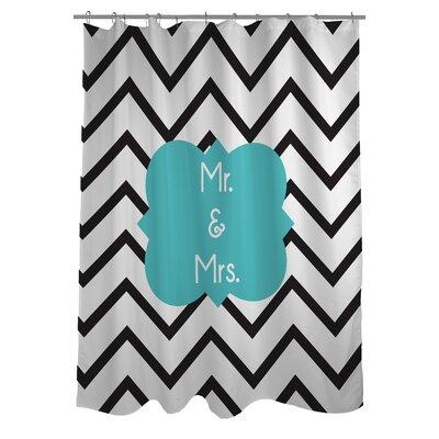 Mr. and Mrs. Chevron Shower Curtain
