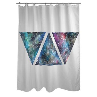 Galaxy Triangles Shower Curtain