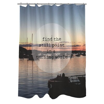 Find a Still Point Harbor Photo Shower Curtain