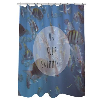 Keep Swimming Fish Photo Shower Curtain
