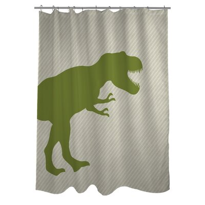 T-Rex Stripe Shower Curtain