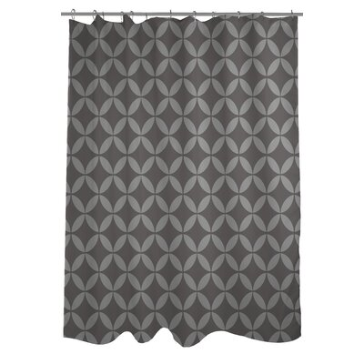Dahlia Geometric Shower Curtain Color: Tonal Gray