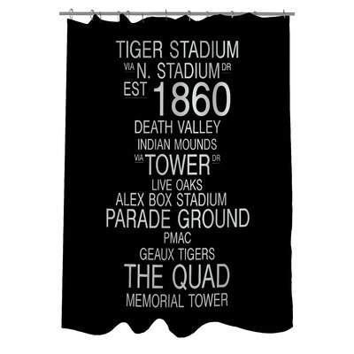 Baton Rouge Louisiana Landmarks Shower Curtain