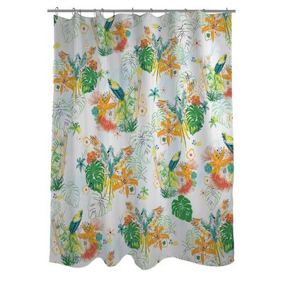 Tropical Bird Shower Curtain
