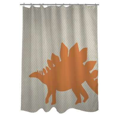 Steogsaurus Stripe Shower Curtain