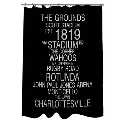 Charlottesville Virginia Landmarks Shower Curtain