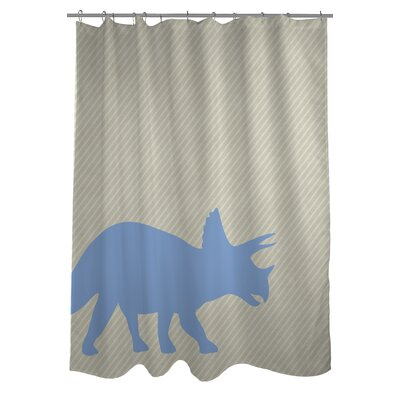 Triceretops Stripe Shower Curtain