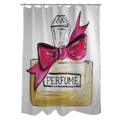 Bow Perfume Quilted Shower Curtain