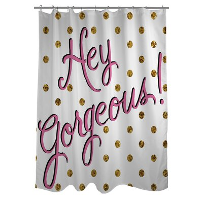 Hello Gorgeous Dots Shower Curtain