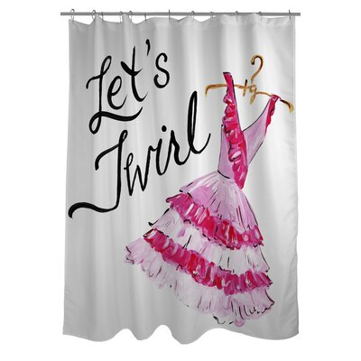 Let's Twirl Dress Stripes Shower Curtain