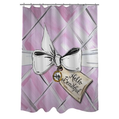 Hello Beautiful Quilted Bow Shower Curtain