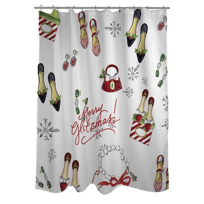 Merry Glitzmas Shower Curtain