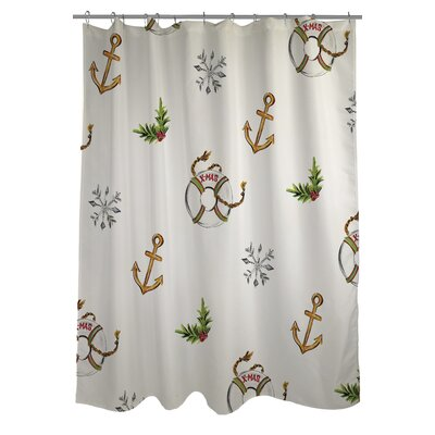 Nautical Xmas Shower Curtain