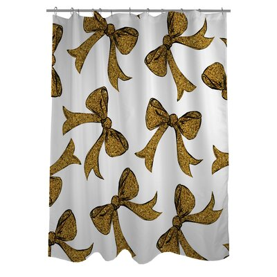 Hello Bows Shower Curtain