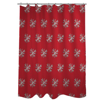 Starry Eyed Snowflakes Shower Curtain