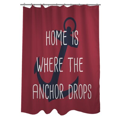 Anchor Drops Shower Curtain