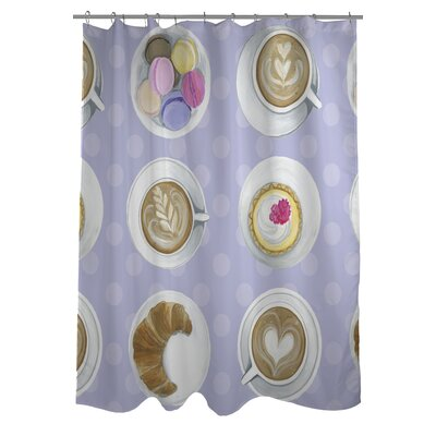 Coffee Cupcake Macaroons Shower Curtain