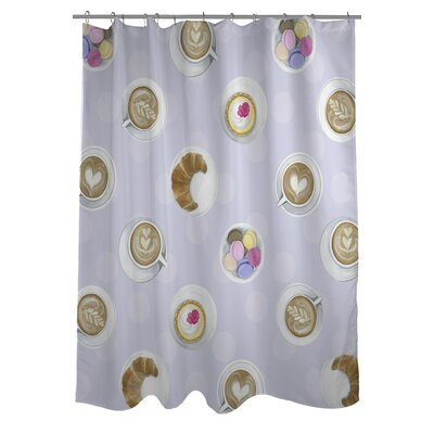 Mini Coffee Cupcake Macaroons Shower Curtain