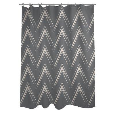 Sabrina Brush Chevron Shower Curtain Color: Gray