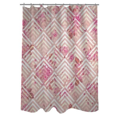 Saeko Scale Floral Shower Curtain