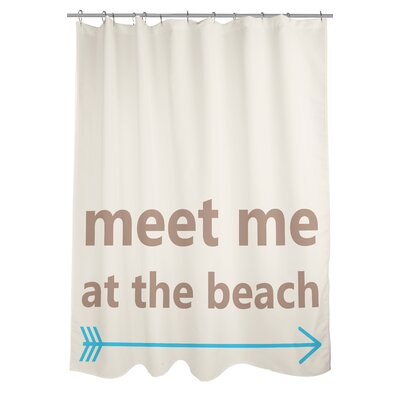 Meet Me at the Beach Shower Curtain