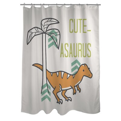 Cuteasaurus Dino Shower Curtain