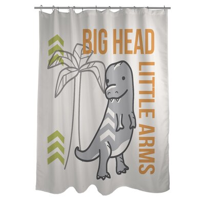 Big Head Little Arms Dino Shower Curtain