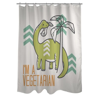 Vegetarian Dino Shower Curtain