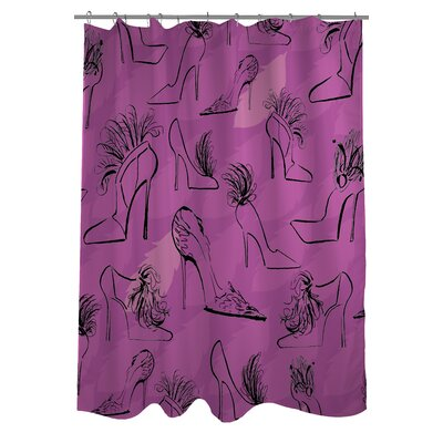 Stilettos Feathers 6 Shower Curtain