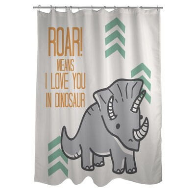Roar Means I Love You Shower Curtain