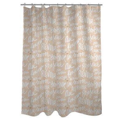 Bonjour, Au Revoir Shower Curtain
