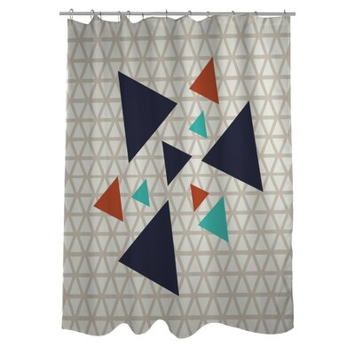 Natasha Geometric Triangles Shower Curtain